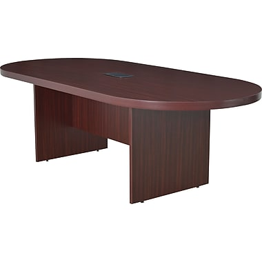 Legacy 95in. Racetrack Conference Table with Power and Data Grommet, Mahogany
