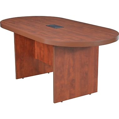 Legacy 71in. Racetrack Conference Table with Power and Data Grommet, Cherry