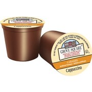 Grove Square, Caramel Cappuccino, Single Serve Cups, 18/Pack