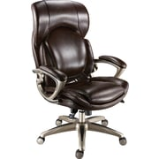Staples Air High-Back Bonded Leather Manager's Chair, Chocolate