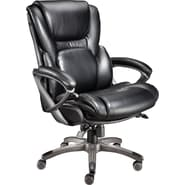Staples Back In Motion Bonded Leather Managers Chair, Espresso