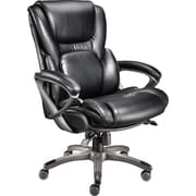 Staples Back In Motion™ Bonded Leather Managers Chair, Espresso
