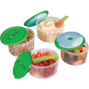 Fit & Fresh Smart Portion 1 Cup Container Set with Removable Ice Packs (Pack of 4)