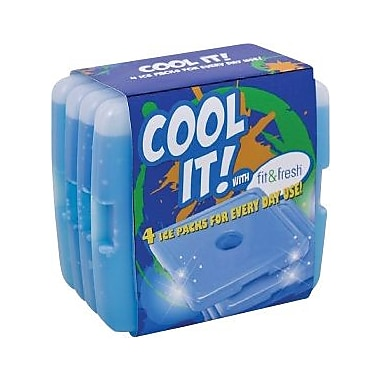 Fit & Fresh Cool Coolers Lunch Ice Packs - Set Of 4