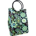 Fit & Fresh Retro Insulated Designer Lunch Bag with Ice Pack - Green Paisley