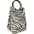 Fit & Fresh Retro Insulated Designer Lunch Bag with Ice Pack - Zebra