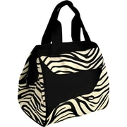 Fit & Fresh Downtown Insulated Designer Lunch Bag with Ice Pack - Zebra
