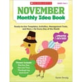 Scholastic November Monthly Idea Book