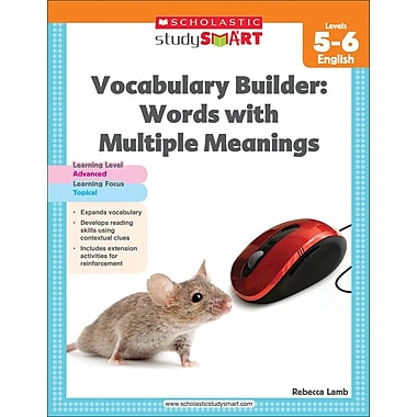 Scholastic Study Smart Vocabulary Builder: Words with Multiple Meanings Level 5-6