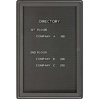 Quartet® 3' x 2' Enclosed Magnetic Letter Board with Radius Design Frame