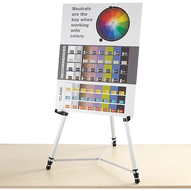 Quartet® Silver Aluminum Heavy-Duty Telescoping Display Easels