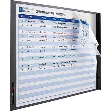 Quartet InView® Custom Dry-Erase board with Graphite Frame, 37in. x 23in.