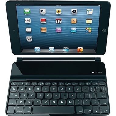 Logitech Ultrathin Bluetooth Keyboard Cover for iPad mini, Black (920-005021)