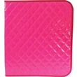 Unison Neon Pink 1 1/2in. Quilted Zipper Binder