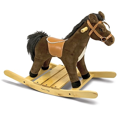Melissa & Doug Rock and Trot Plush Rocking Horse