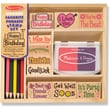 Melissa & Doug Favorite Phrases Stamp Set