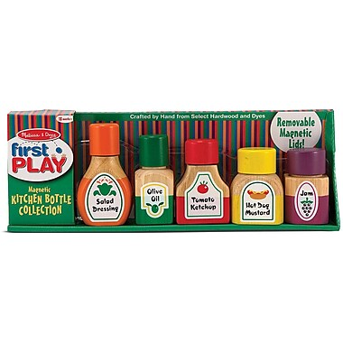 Melissa & Doug Magnetic Kitchen Bottle Collection