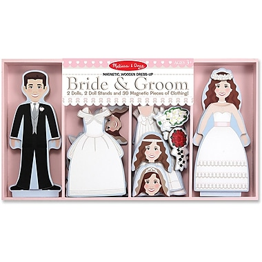 Melissa & Doug Bride & Groom Magnetic Dress-Up
