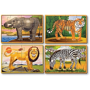 Melissa & Doug Wild Animals Puzzle in a Box