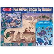 Melissa & Doug Peel & Press Sticker by Number - Dinosaur Dusk