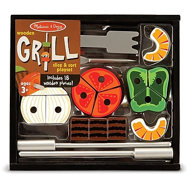 Melissa & Doug Grill Slice & Sort Playset