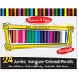 Melissa & Doug Jumbo Triangular Colored Pencil (Set of 24)