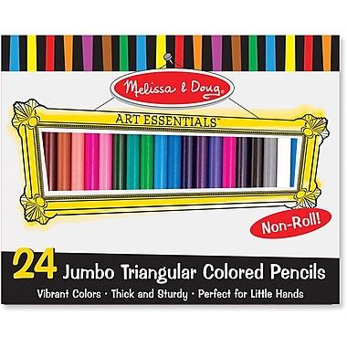 Melissa & Doug Jumbo Triangular Colored Pencil (Set of 24)
