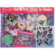 Melissa & Doug Peel & Press Sticker by Number - Butterfly Sunset