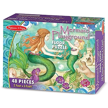 Melissa & Doug Mermaid Playground Floor Puzzle (48 pc)