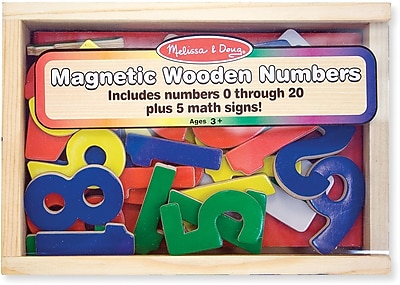 Melissa & Doug Magnetic Wooden Numbers 178220