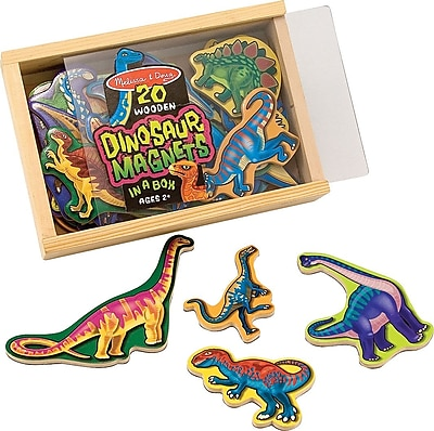 Melissa & Doug Wooden Dinosaur Magnets 178223
