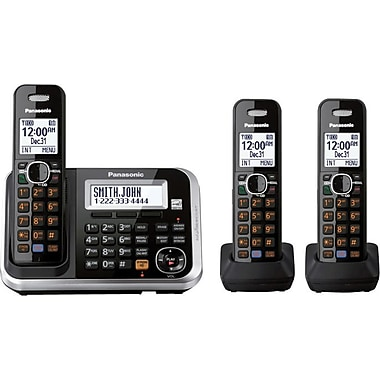 Panasonic KX-TG6843B Expandable Digital Cordless Telephone with Answering System 3 Handsets