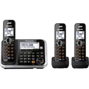 Panasonic KX-TG6843B 3-Handset Expandable Digital Telephone with Answering System, Cordless