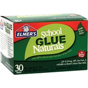 Elmer's School Glue Naturals, Clear Glue Sticks, .21 oz, 30/Pack