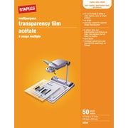 "Staples Multi-Purpose Transparency Film for Printers, 8.5"" x11"", 50/Pack (368096A)"