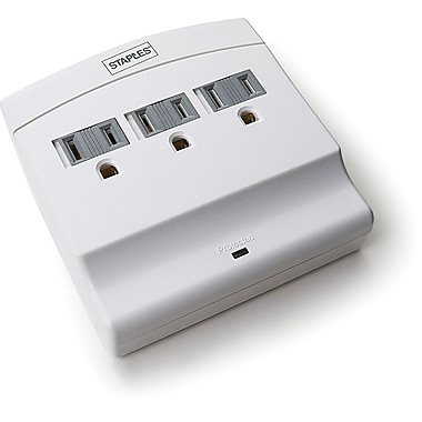 Staples 3 Outlet 1200 Joule Wall Mount Surge Protector