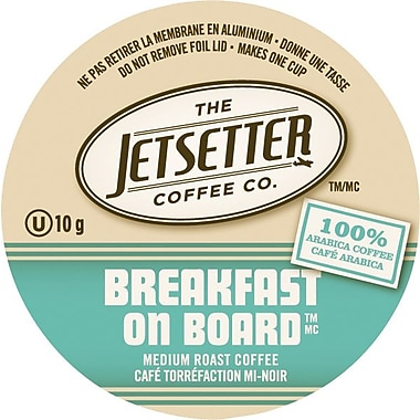 Jetsetter Coffee Co., Breakfast on Board Coffee, Single Serve Cups, 18/Pack