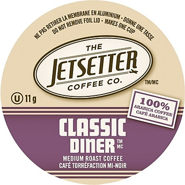Jetsetter Coffee Co., Classic Diner Coffee, Single Serve Cups, 18/Pack