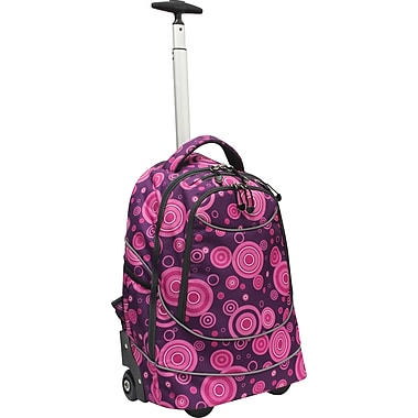 GP® 80780 Horizon Rolling Computer Backpack For 17in. Laptops, Purple Bubbles
