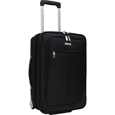 Traveler's Choice® TC0424 Sienna 21in. Hybrid Hard-Shell Rolling Upright Suitcase/Bag, Black