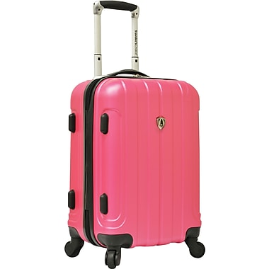 Traveler's Choice® TC3800 Cambridge 20in. Hardsided Carry-On Spinner Luggage Suitcase, Pink