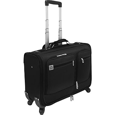 U.S.® Traveler US0421 Carry-On Spinner Providence Garment Bag, Black