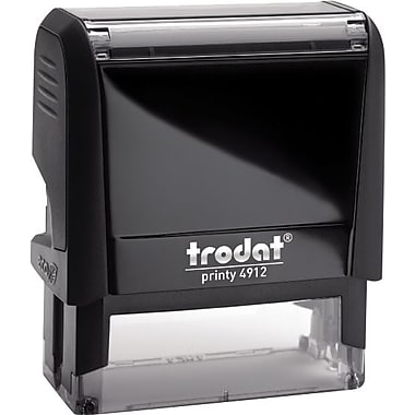 Trodat® 4912 DIY Climate-Neutral Self-Inking Stamp, 4-Line, 3/4