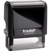 "Trodat® 4912 DIY Climate-Neutral Self-Inking Stamp, 4-Line, 3/4"" x 1-7/8"""