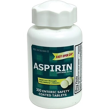 Aspirin Low Dose Enteric Coated Tablets, 300/Bottle