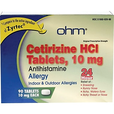 Cetirizine Tablets 90 Tablets/Bottle