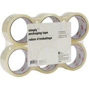 Simply® Standard-Grade Packaging Tape, 48 mm x 50 m, 1.8-mil, Clear, 6/Pack