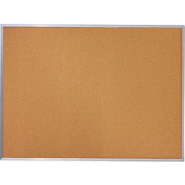 Quartet Basic Cork Board w/ Aluminum Frame, 4' x 3'