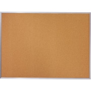 Quartet Basic Cork Bulletin Board with Aluminum Frame, 4' x 3'