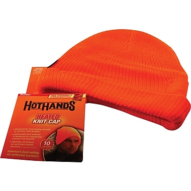 Bonnet molletonné, orange enflammé